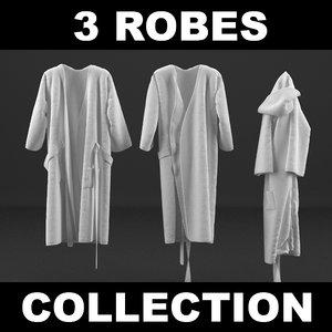 robes realistic 3d model