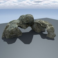 free c4d model rock games ready