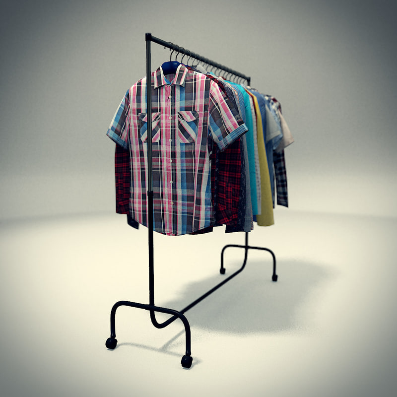 3ds max 18 shirt rack