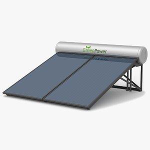 3d ar water heater panel
