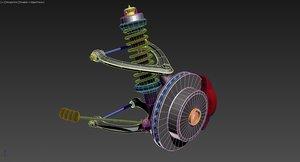 3d car suspension