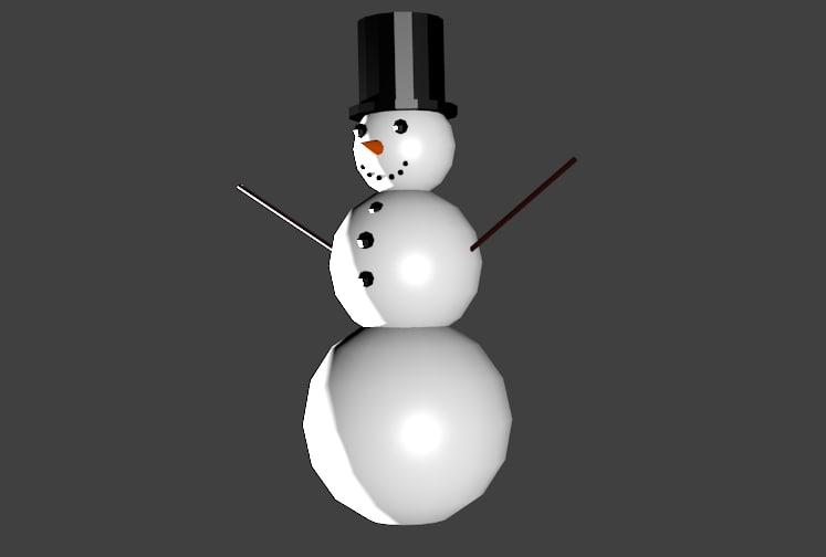 3ds max snowmen snowman snow