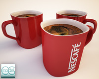 red nescafe cup