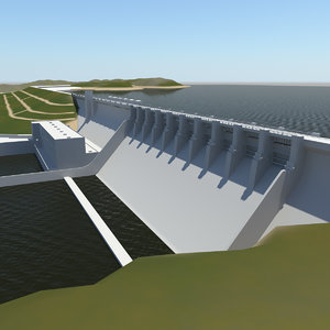 3ds max wolf creek dam