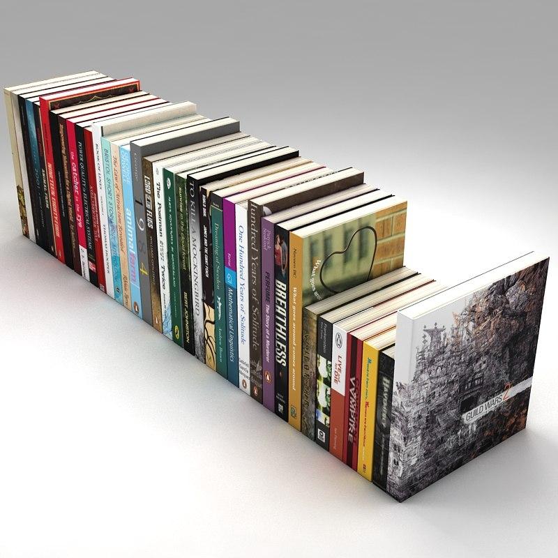 3d books interior design