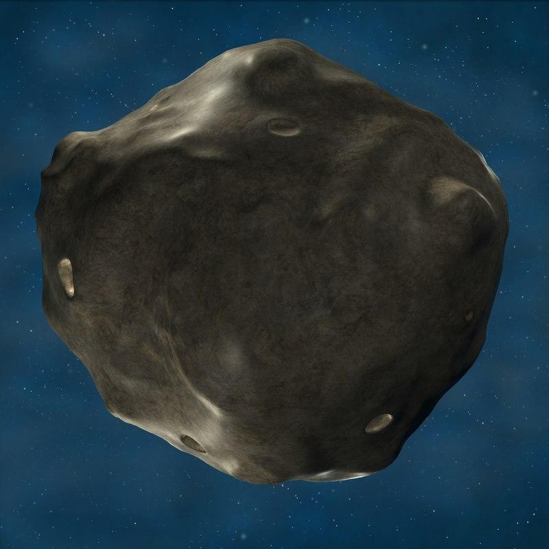 3d meteor meteorite model