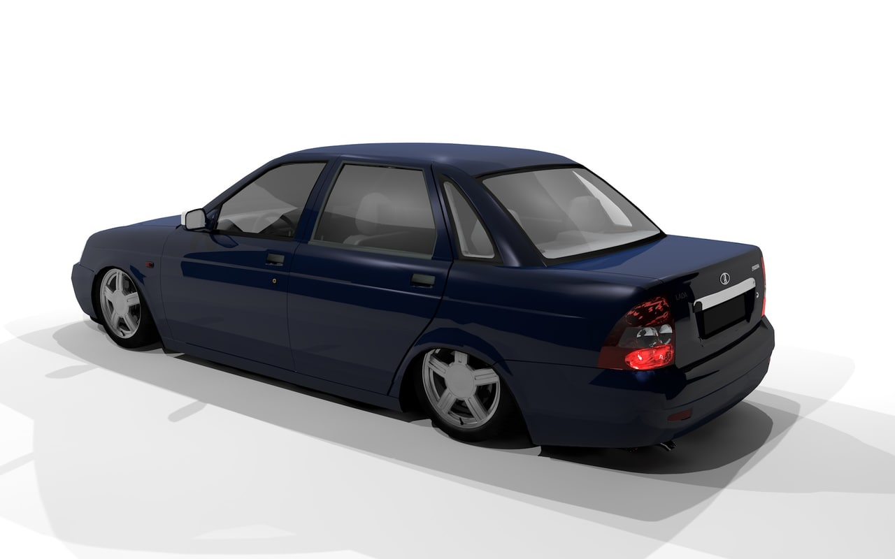 3d model of lada priora