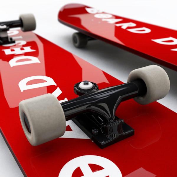 3d skateboard board