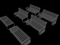 free obj mode bench settle garden