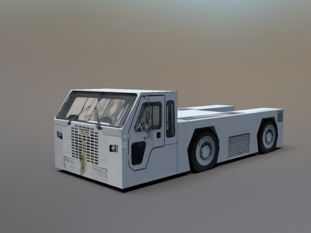 3d static tow truck model