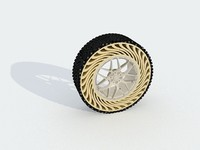 3d model tweel airless tire