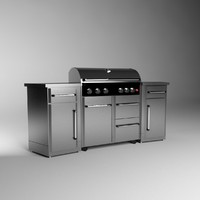 Professional outdoor grill