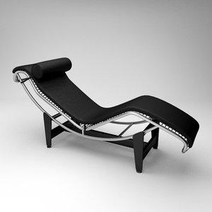 3d model lc4 chaise longue