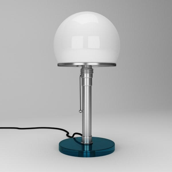 3dsmax bauhaus lamp wagenfeld