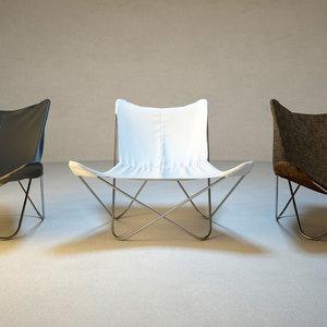 butterfly chair 3d model