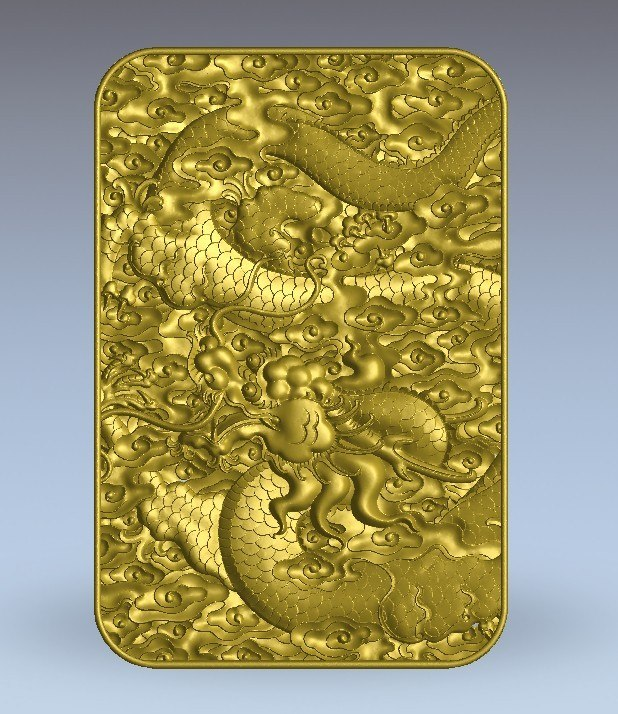 3d chinese dragon relief