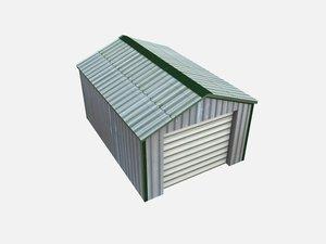 garage shed metal obj