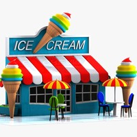 car ice cream 3d max