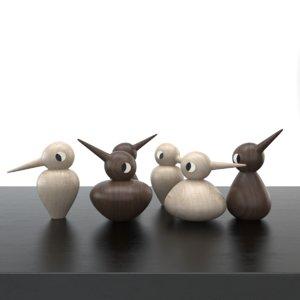 birds wood 3d max