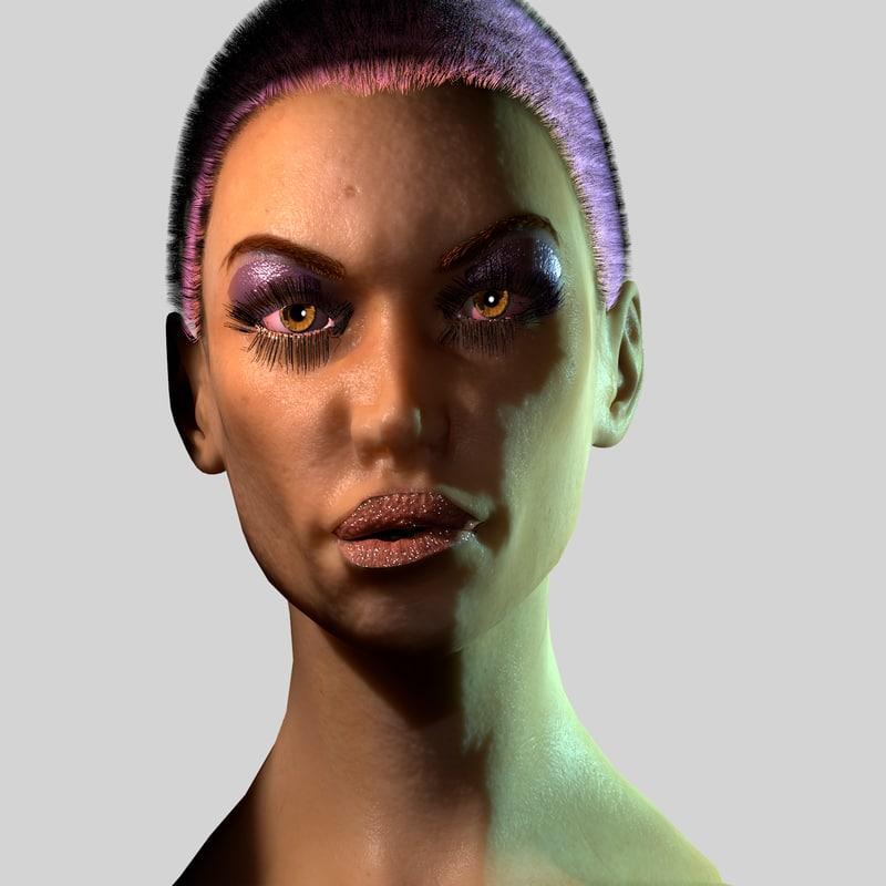 blender female head