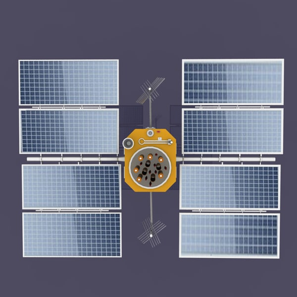 3d gps satellite model