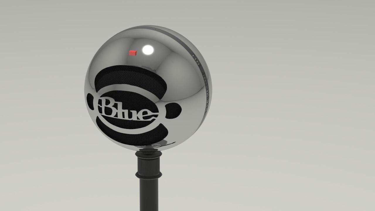 3d model blue snowball