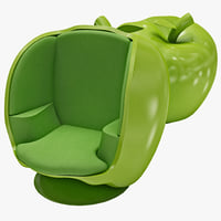 3d model apple chair