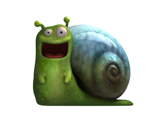 happy snail 3d max