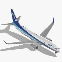 boeing 737-800 ana 3d model
