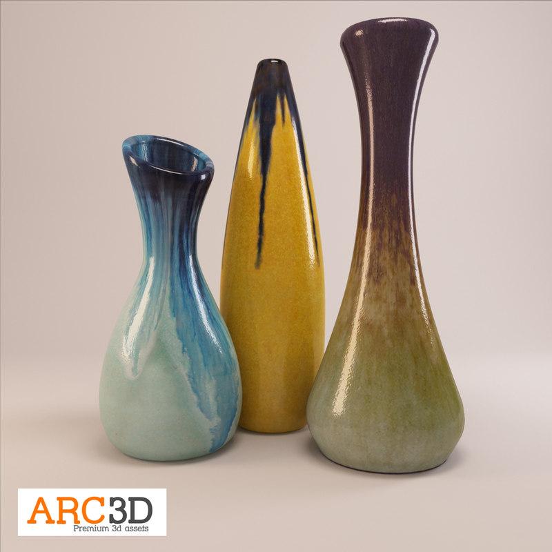 3d 3 vases