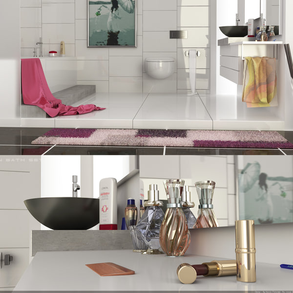 bathroom scenes 3d model