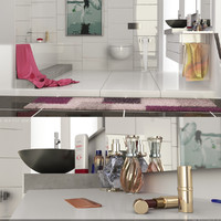 bathroom scenes 3d model