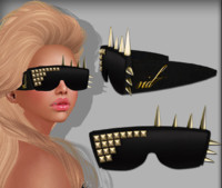 glass sunglass spiked 3d 3ds
