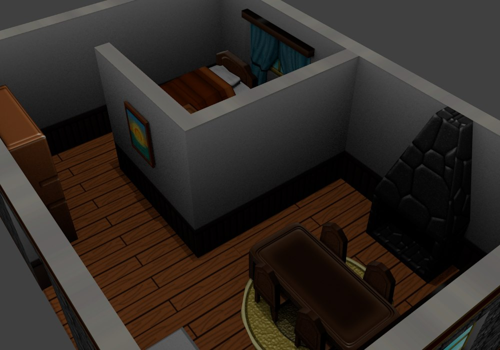 rpg interior house 3d 3ds