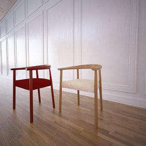 3d model tokyo chair poliform