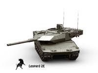 3d leopard tank model