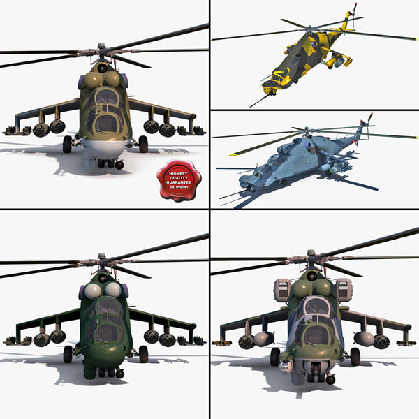 3d mi rigged helicopters 24 model