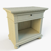 ST.James Open Nightstand in white