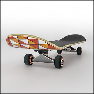 skateboard complete 3d model