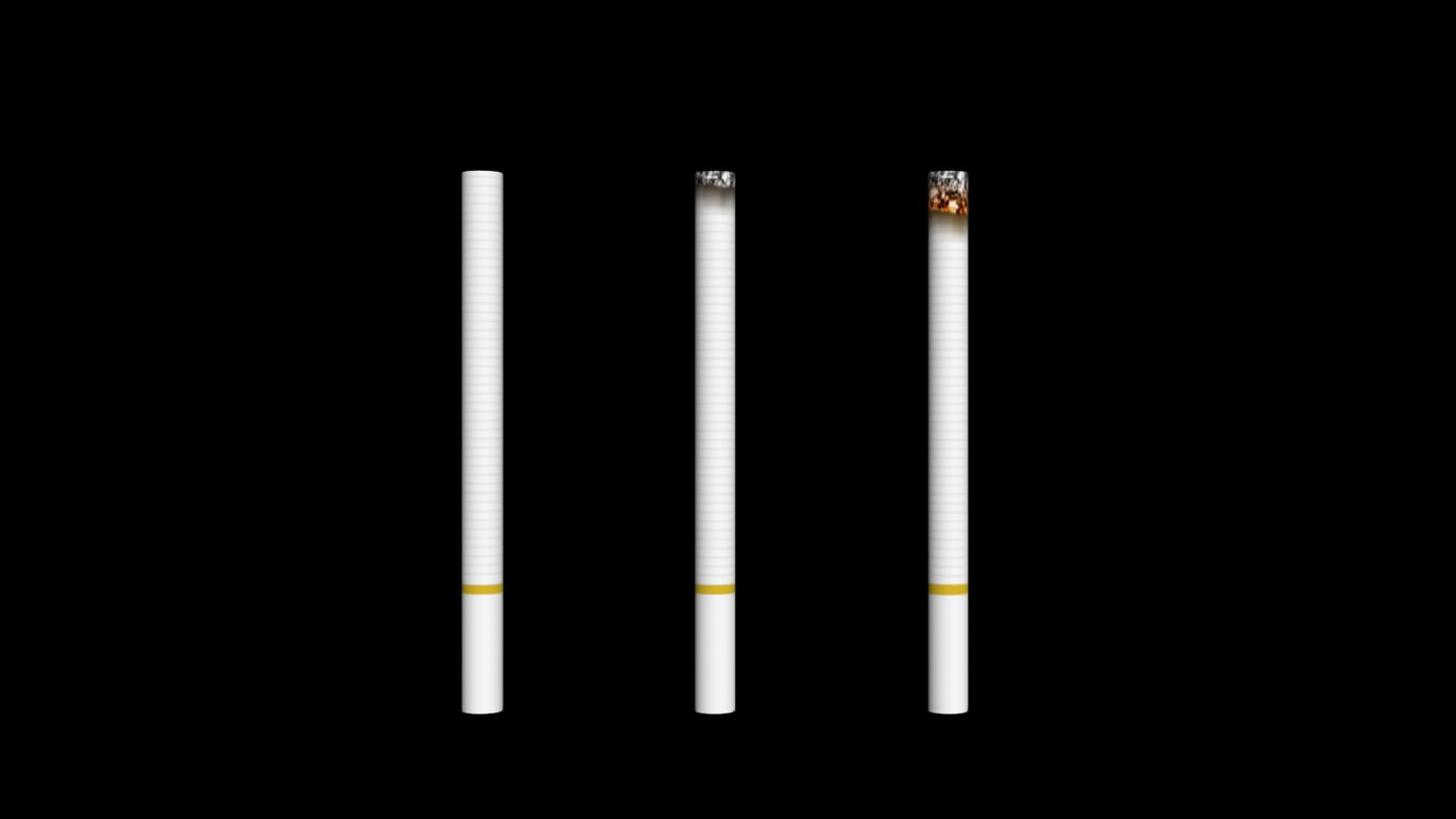 cigarette cigaret cigare 3d model