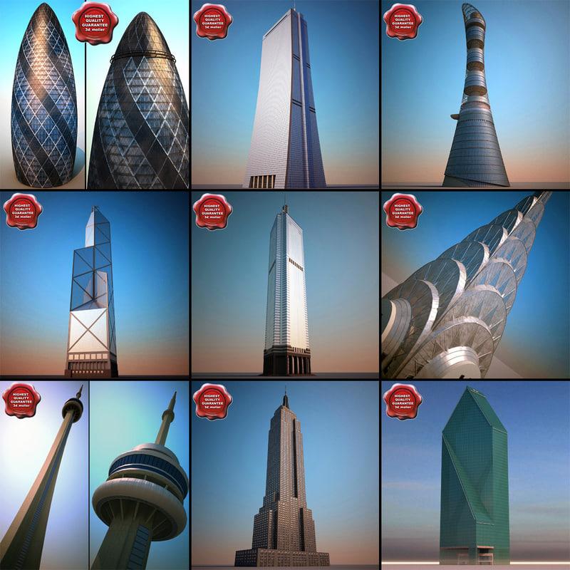 3d max skyscrapers v4