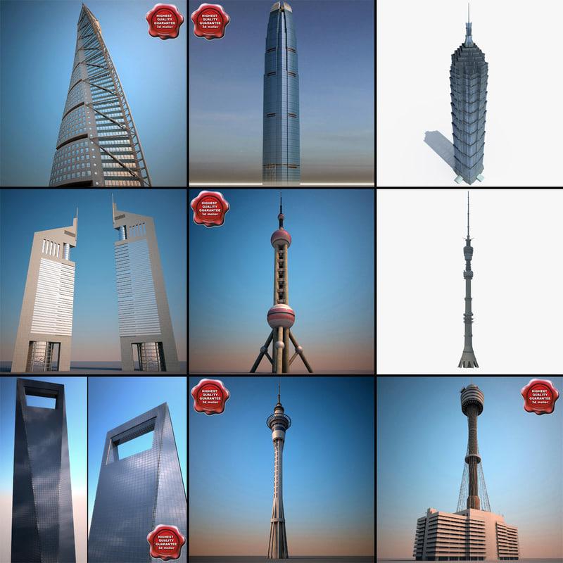 3d skyscrapers v5 model