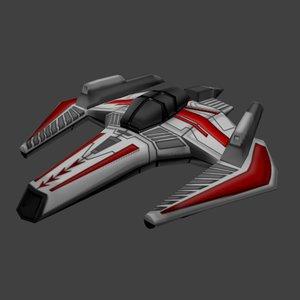 3ds max spaceship fighter