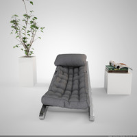 lounger lounge chair 3d model