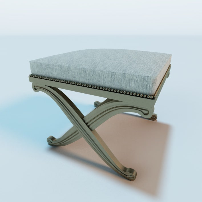 french art deco bench 3d 3ds