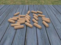 free wooden dowel pin 3d model