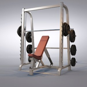 3d model bench press machine