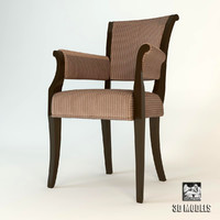 baker armchair chair 3ds