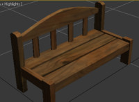 Lowpoly Bench