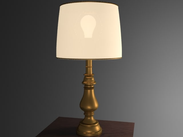 3ds max brass lamp light table